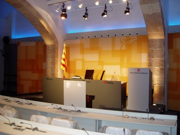 New Press Room in Palau de la Generalitat de Catalunya