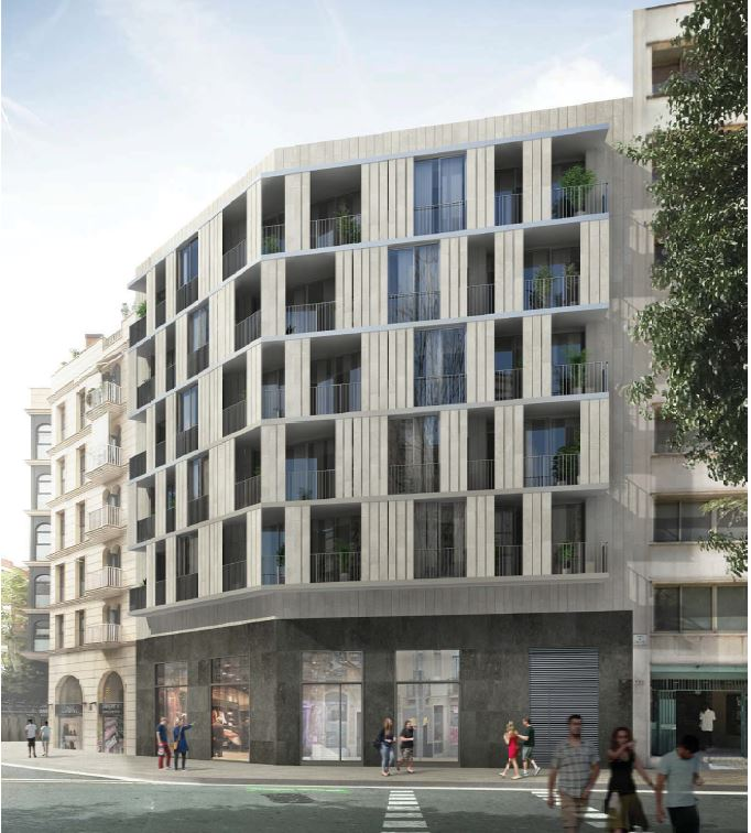 RESIDENTIAL BUILDING IN C/ SARDENYA 225, BARCELONA - 15 APARTAMENTS